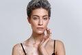 Vitiligo woman beauty portrait Royalty Free Stock Photo