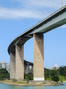 Vitoria bridge in brasil south america in summer time Royalty Free Stock Photos