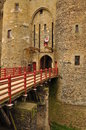 Vitré brittany france main castle medieval in the village of drawbridge detail Stock Photo