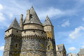 Vitre castle scenic view of win france Royalty Free Stock Photography