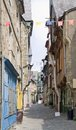 Vitre city view of in brittany france Stock Photo