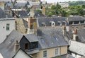 Vitre city view of in brittany france Royalty Free Stock Photo