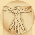 Vitruvian Man Model Royalty Free Stock Images