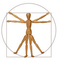 Vitruvian Man (A Modern Rendition) Royalty Free Stock Photos