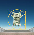 Vitruvian US Dollar - business success, standards Royalty Free Stock Photos