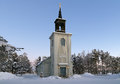 Vittangi Church in winter, Sweden Royalty Free Stock Image