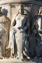 Vittorio de Rome de borne limite d'Emanuel de groupe Images libres de droits