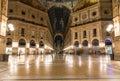 Vittorio emanuele ii gallery in milan italy Stock Photo