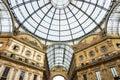 Vittorio emanuele ii gallery in milan italy Royalty Free Stock Images
