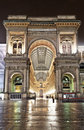 Vittorio Emanuele II gallery at night, Milan Stock Photos