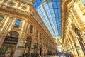 Vittorio Emanuele II Gallery vault Royalty Free Stock Photo