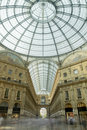 Vittorio Emanuele shopping arcade, Milan Royalty Free Stock Photo