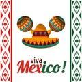 Viva mexico celebration heritage card