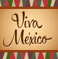 Viva Mexico - Mexicain Deco de vintage Photo stock