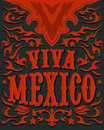 Viva mexico mexican holiday poster western style eps available Stock Photography