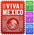 Viva mexico mexican holiday vector decoration eps available Stock Photography