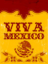 Viva mexico mexican holiday vector poster vintage available western style Royalty Free Stock Images