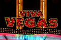 Viva Vegas illuminated sign Royalty Free Stock Images