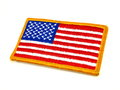 Vivid American Flag patch on white background Royalty Free Stock Photo