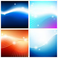 Vivid astral backgrounds Stock Images