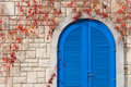 Vivid Blue door Stock Photos