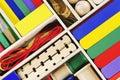 Vivid Color Craft Set Background Stock Photos