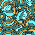 Vivid color seamless pattern with ornate detailed ornament