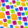 Vivid Cubes Square Background Stock Images