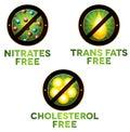 Vivid diet icon set