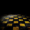 Vivid grunge chessboard backgound Royalty Free Stock Photography