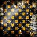 Vivid grunge chessboard backgound Royalty Free Stock Images