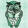 Vivid illustration of owl Stock Photos