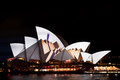 Vivid Light Festival on Sydney Opera House Royalty Free Stock Photo