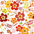 Vivid seamless floral pattern Royalty Free Stock Photography