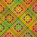 Vivid tribal pattern fabric seamless african style Stock Photos