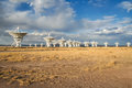 The vla an early evening shot at Royalty Free Stock Photo