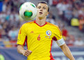 Vlad chiriches romania s captain pictured in action during the international friendly match between romania and slovakia held on Stock Image