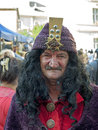 Vlad tepes costume suit at sighisoara medieval festival Stock Photo