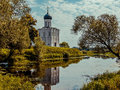 Vladimir cathedral of the intercession on the nerl Stock Photo