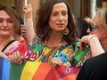 Vladimir luxuria italian transgender politician at the national gay pride in bologna Royalty Free Stock Photos