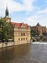 Vltava river embankment, Prague, Czech Republic Royalty Free Stock Photos