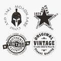 Vntage stamp set Royalty Free Stock Photo