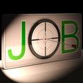 Vocación de la carrera de job target shows work and Fotografía de archivo