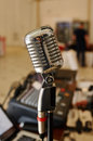 Vocal Microphone Radio Station Royalty Free Stock Photo