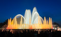 Vocal Montjuic fountain in Barcelona. Spain Royalty Free Stock Photo