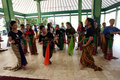 Vocation school vocational high students studying dance majors military dance in solo central java indonesia Stock Photo