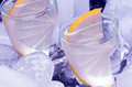 Vodka alcohol russian and ice Stock Photography