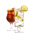 Vodka and cola drink Royalty Free Stock Photo