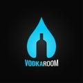 Vodka Glass Bottle Drop Backgr...