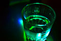 Vodka shot on table in private club Royalty Free Stock Photography